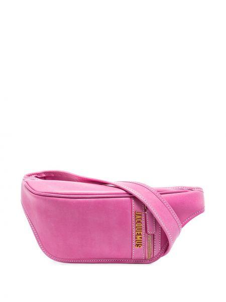 Розовая сумка из натуральной кожи Jacquemus