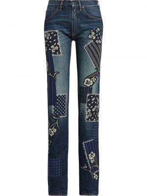 Синие джинсы с карманами пэчворк Ralph Lauren Collection
