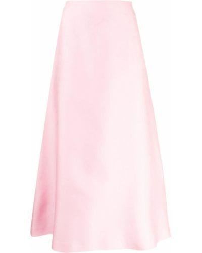 Шелковая юбка миди - розовая Macgraw