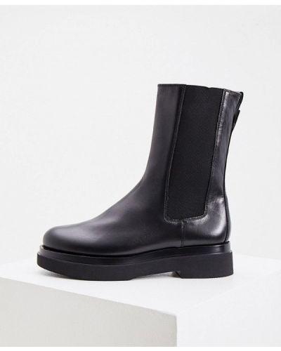 Черные кожаные ботинки Hogl