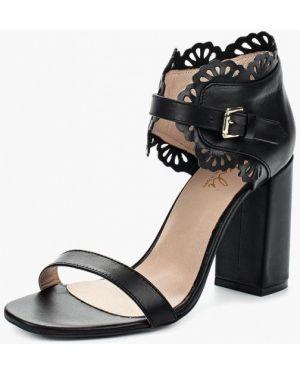Черные босоножки на каблуке Dali