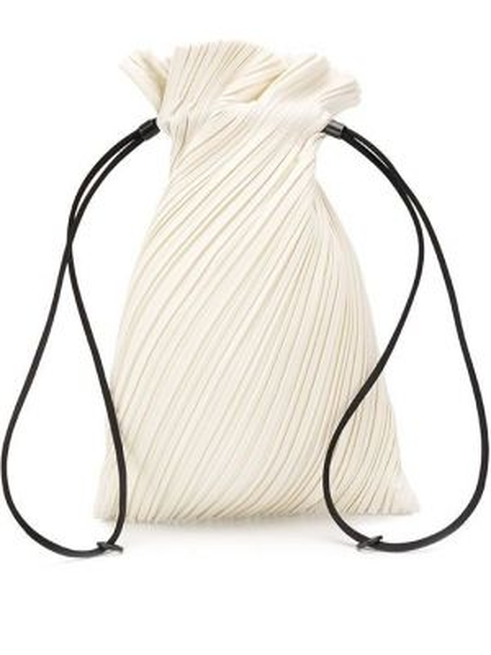Biała torebka Pleats Please Issey Miyake