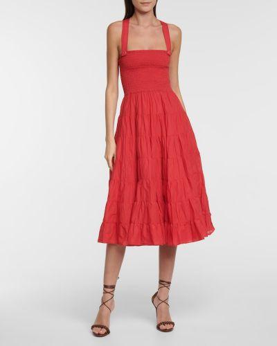 Хлопковое платье миди Polo Ralph Lauren