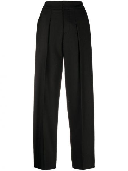 Прямые черные с завышенной талией брюки Mrz