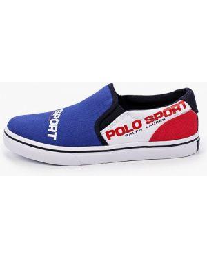 Слипоны синие Polo Ralph Lauren