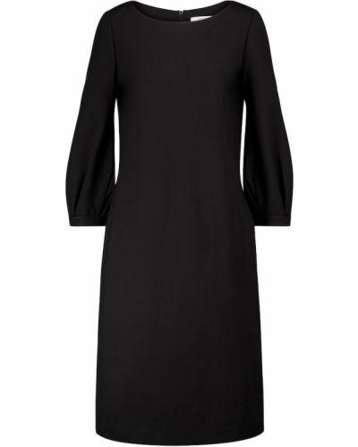 Черное платье миди для полных из вискозы Dorothee Schumacher