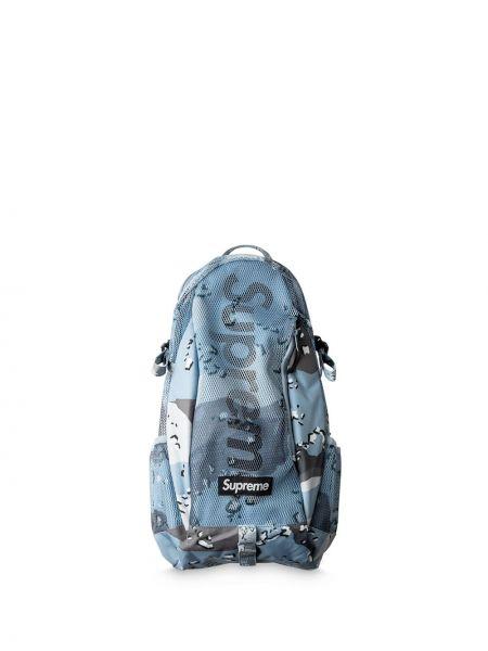 Niebieski plecak z nylonu Supreme