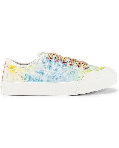 Белые кроссовки на платформе на шнурках Dolce Vita