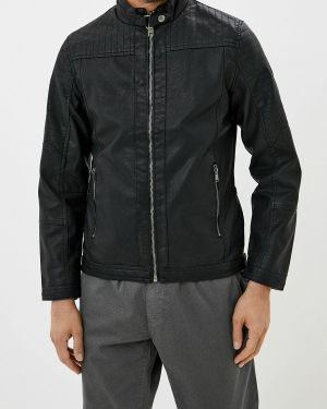 Кожаная куртка черная осенняя Blend
