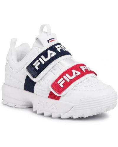Białe sneakersy Fila