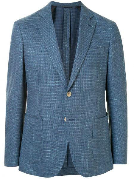 Шерстяной пиджак с заплатками с лацканами с карманами D'urban