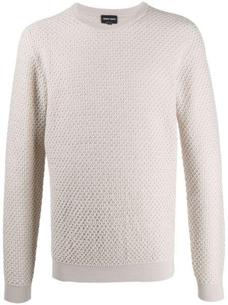 Beżowa bluza wełniana Giorgio Armani