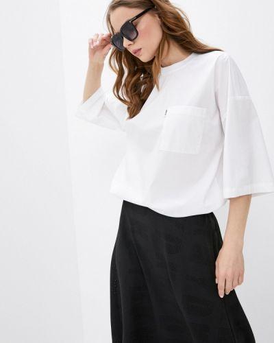 Белая блузка с короткими рукавами Dkny
