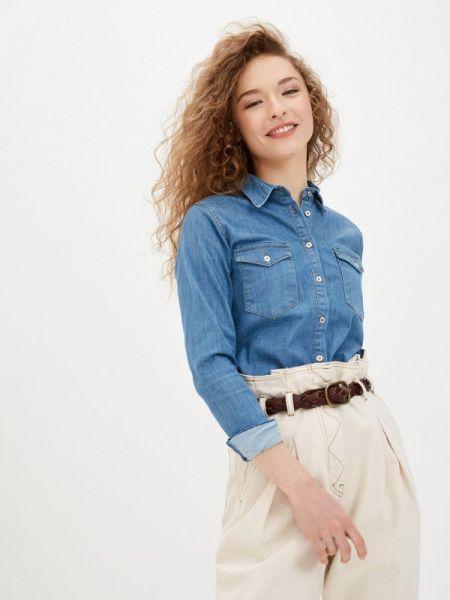Синяя джинсовая рубашка с запахом Jimmy Sanders