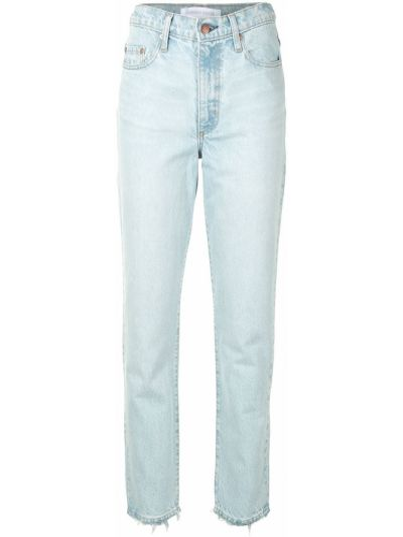 Синие с завышенной талией джинсы варенки на молнии Nobody Denim