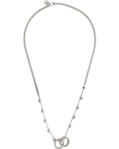 Серебряное ожерелье с черепами Alexander Mcqueen