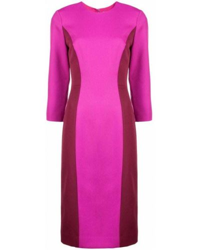 Платье миди розовое на молнии Milly