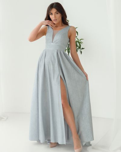 Блестящее вечернее платье - серое Odis