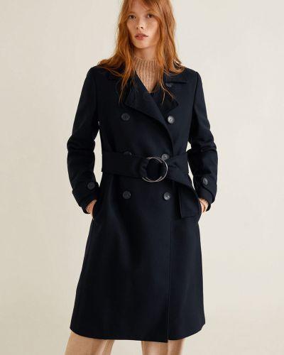 Утепленная куртка в клетку прямая Mango
