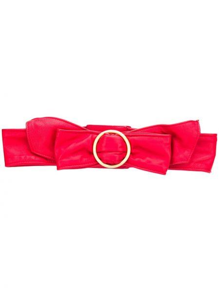 Кожаный красный ремень с пряжкой с поясом Philosophy Di Lorenzo Serafini