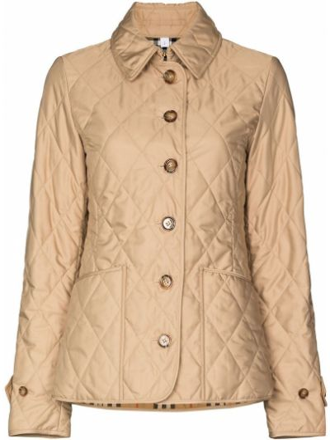 Хлопковая ватная стеганая куртка Burberry