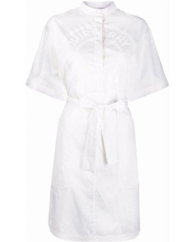 Платье мини короткое - белое Burberry
