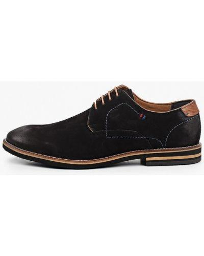 Черные туфли из нубука Salamander