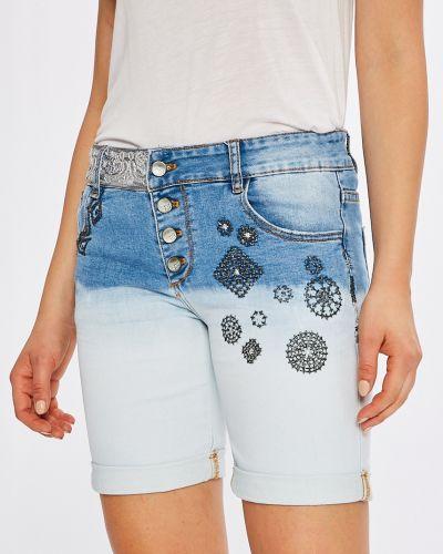 Джинсовые шорты синий с карманами Desigual