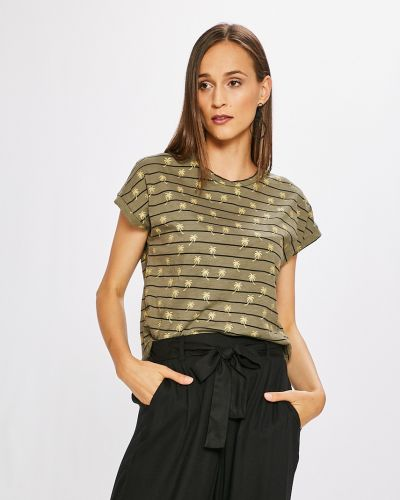 Зеленая свободная футболка Vero Moda