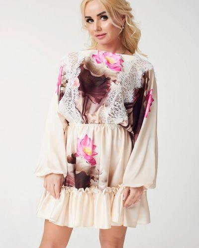 Платье весеннее бежевое Luxlook