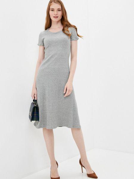 Платье серое прямое By Swan