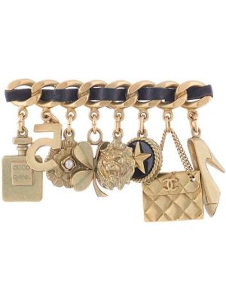 Złota broszka pozłacana Chanel Pre-owned