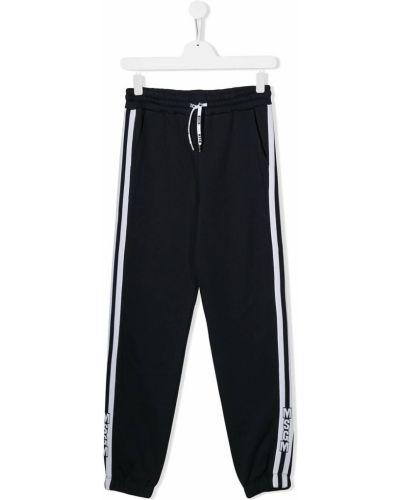 Sportowe spodnie z wysokim stanem białe Msgm Kids