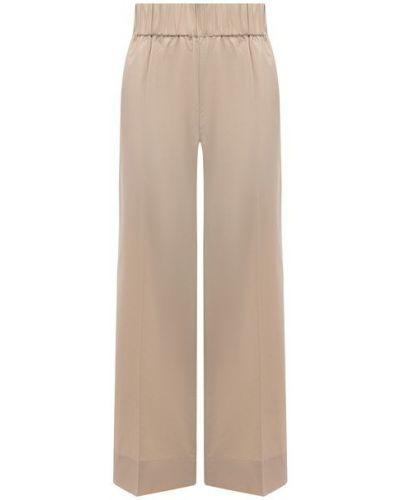 Хлопковые бежевые брюки By Malene Birger