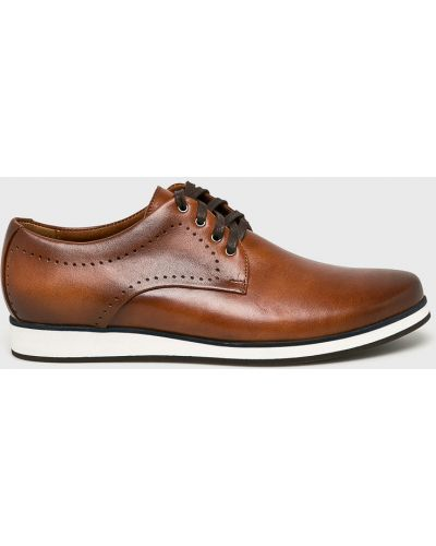 Кожаные туфли на шнуровке Conhpol