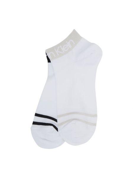 Bawełna bawełna biały skarpety na paskach Ck Calvin Klein
