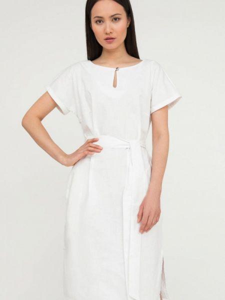 Свободное белое расклешенное повседневное платье Finn Flare
