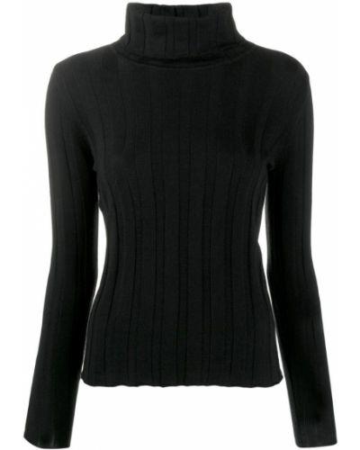 Черный свитер в рубчик Philo-sofie
