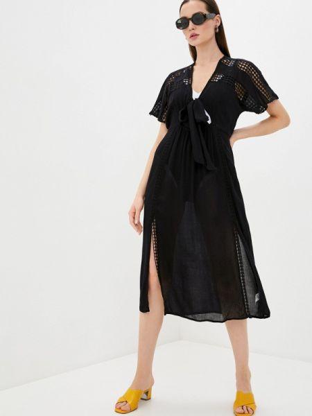 Пляжное платье черное весеннее River Island