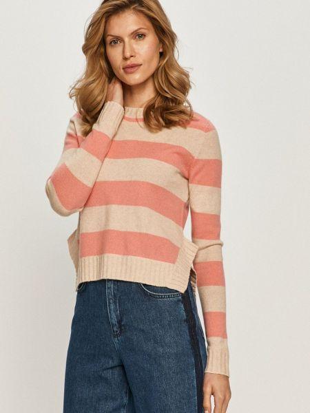 Бежевый тонкий кашемировый длинный свитер Max&co