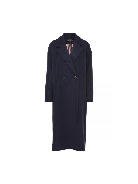 Длинное пальто шерстяное на пуговицах Only