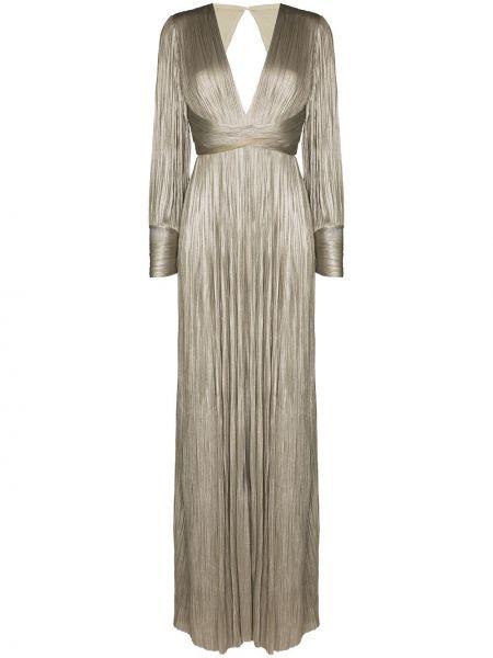 Шелковое вечернее платье - серое Maria Lucia Hohan
