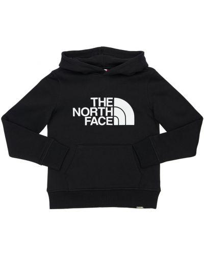Czarny bluza z kapturem z kapturem z haftem The North Face
