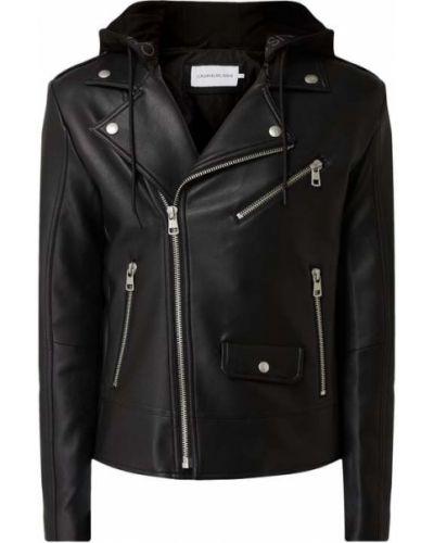 Bawełna czarny kurtka jeansowa z kapturem Calvin Klein Jeans