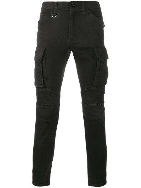 Хлопковые черные брюки карго Sophnet.