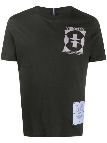 Czarny t-shirt bawełniany z printem Mcq Alexander Mcqueen