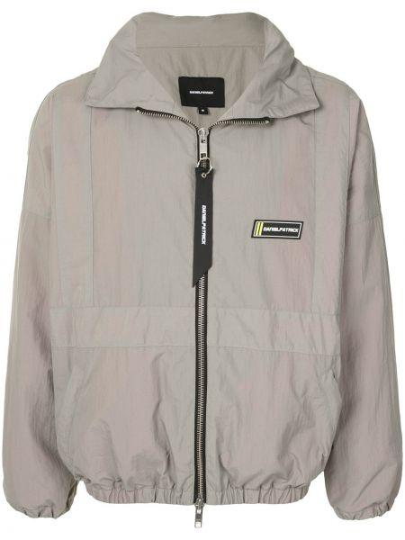 Klasyczna długa kurtka z nylonu z długimi rękawami Daniel Patrick