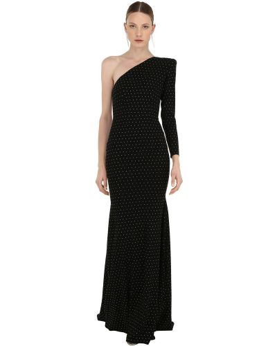 Платье макси с длинными рукавами - черное Alex Perry