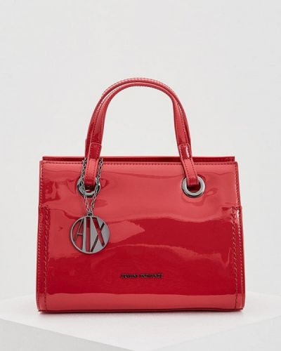 Красная сумка Armani Exchange