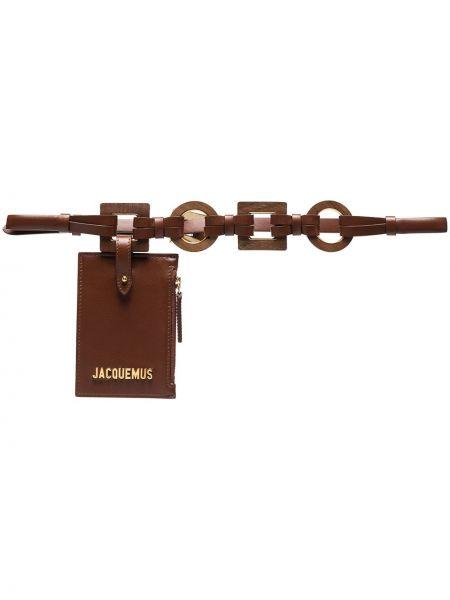 Коричневая кожаная сумка Jacquemus